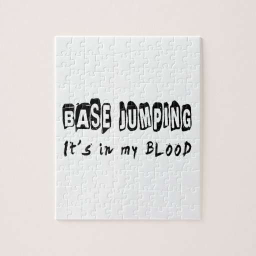 Base Jumping It's in my blood Jigsaw Puzzle