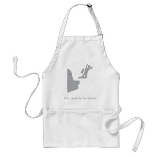 Base jumping...the cure to boredom adult apron