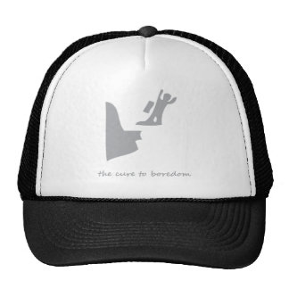 Base jumping...the cure to boredom trucker hat