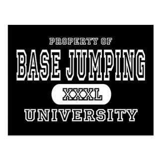 Base Jumping University Dark Postcard