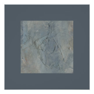 Base Neutral Toned Abstract Expressionist Collage Poster