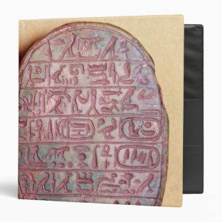 Base of a marriage scarab of Amenhotep III 3 Ring Binder