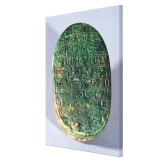 Base of a marriage scarab of Amenhotep III Canvas Print