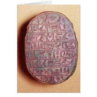Base of a marriage scarab of Amenhotep III Card