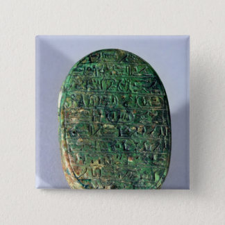 Base of a marriage scarab of Amenhotep III Pinback Button