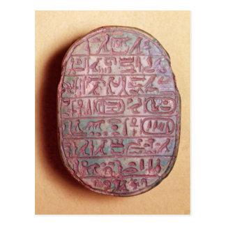Base of a marriage scarab of Amenhotep III Postcard