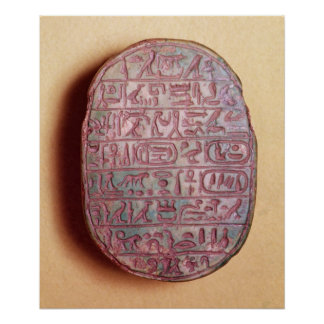 Base of a marriage scarab of Amenhotep III Poster