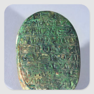 Base of a marriage scarab of Amenhotep III Square Sticker