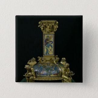 Base of the Cross of St. Bertin Pinback Button