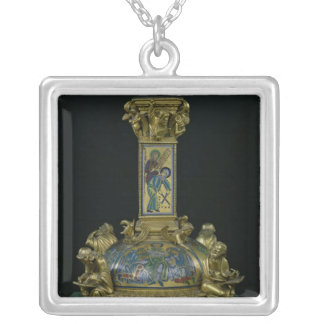Base of the Cross of St. Bertin Square Pendant Necklace