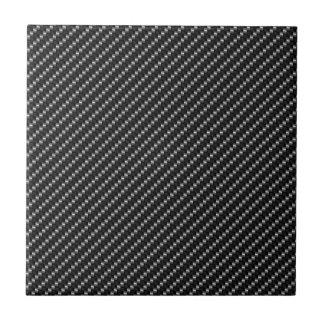 Base roja y negra de la fibra de carbono azulejo cuadrado pequeño
