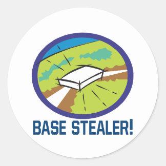 Base Stealer Classic Round Sticker