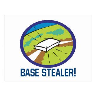 Base Stealer Postcard