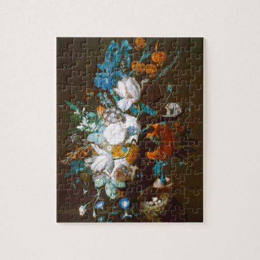 Base with Flowers - Jan van Huysum (1720) Puzzle