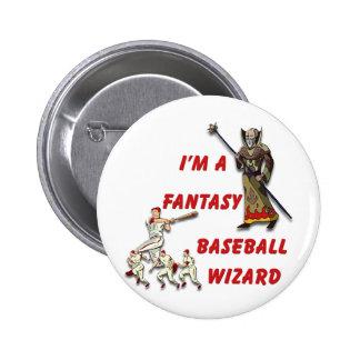 Basebal Wizard #2 2 Inch Round Button