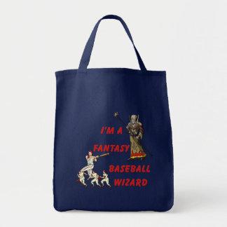 Basebal Wizard #2 Grocery Tote Bag