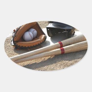 Baseball 11 oval sticker