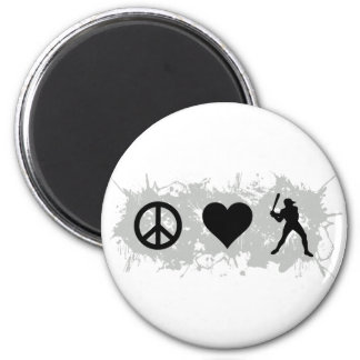 Baseball 1 2 inch round magnet