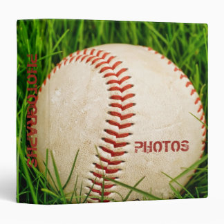 "Baseball 1.5"" Photo Album Vinyl Binders"