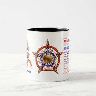 Baseball 1 ADD Name-Photo View My Help Hints Below Two-Tone Coffee Mug