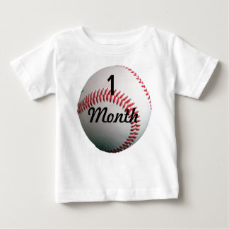 Baseball  1 Month Baby Shirt for Baby Pictures