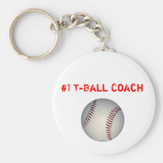 baseball, #1 T-Ball Coach Keychain