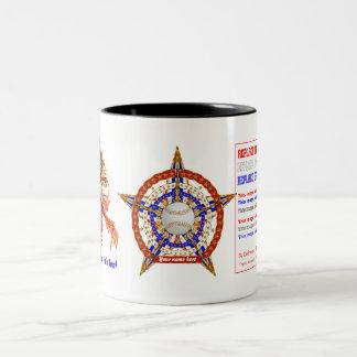 Baseball 2 ADD Name-Photo View My Help Hints Below Two-Tone Coffee Mug