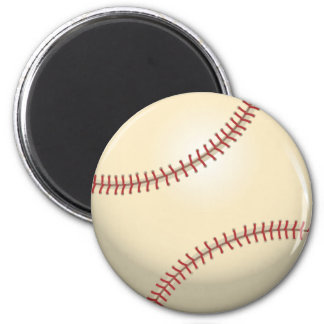 Baseball 2 Inch Round Magnet