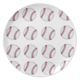Baseball 2 melamine plate