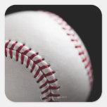 Baseball 2 square sticker