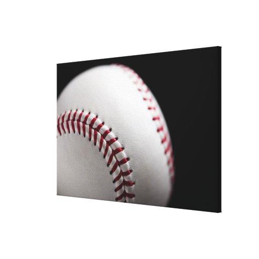 Baseball 2 stretched canvas print