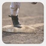 Baseball 3 square sticker
