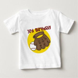 Baseball 3rd Birthday Gifts Baby T-Shirt