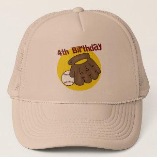 Baseball 4th Birthday Gifts Trucker Hat