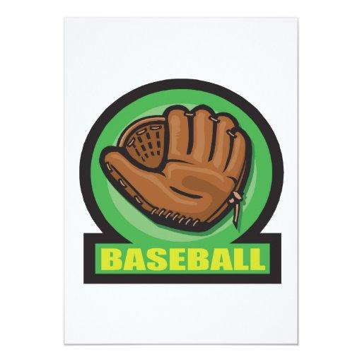 Baseball 5x7 Paper Invitation Card