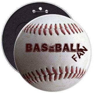 Baseball 6 Inch Round Button