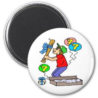 Baseball 7th Birthday Gifts 2 Inch Round Magnet