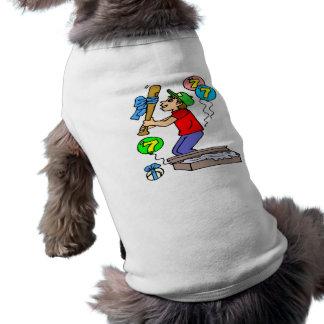 Baseball 7th Birthday Gifts Doggie Tshirt