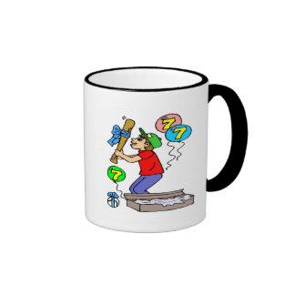Baseball 7th Birthday Gifts Ringer Coffee Mug