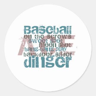 Baseball Ace Gifts & T-Shirts Classic Round Sticker