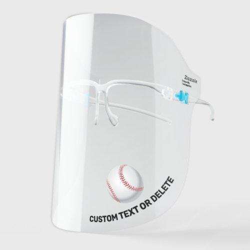 Baseball Add Custom Text Personalized Sports Face Shield