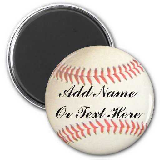 BASEBALL ADD NAME OR TEXT HERE-MAGNET
