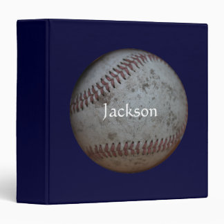 "Baseball - Add Your Name 1.5"" 3 Ring Binder"