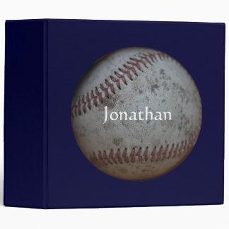 "Baseball - Add Your Name 2"" 3 Ring Binder"