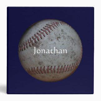 "Baseball - Add Your Name 2"" Binders"