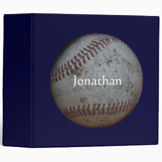 Baseball - Add Your Name 3 Ring Binder