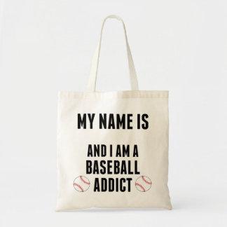 Baseball Addict Tote Bags