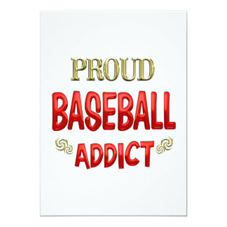 Baseball Addict Personalized Invitation