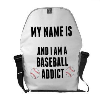 Baseball Addict Messenger Bags