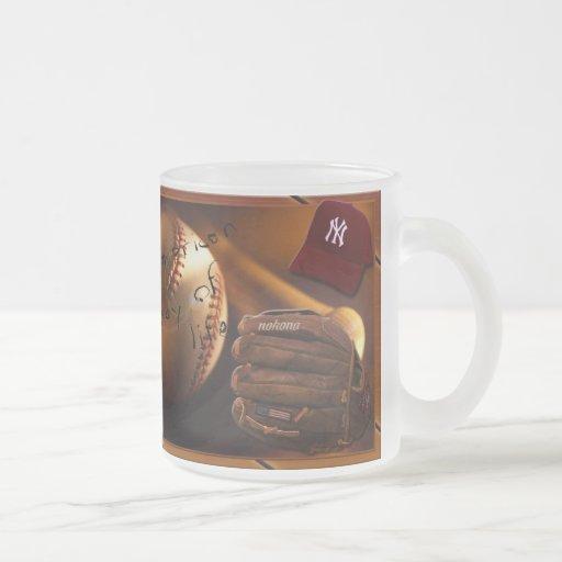 Baseball Addiction Frosted Glass Coffee Mug